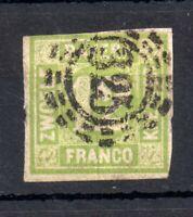 Germany Bavaria 1862 12kr green #14 fine used WS12652