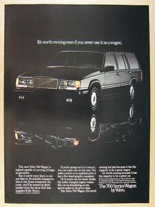 1985 Volvo 760 Wagon black car color photo vintage print Ad