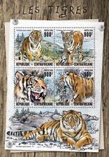 CENTRAL AFRICA 2016 SHEET MNH TIGERS WILD CATS FELINES WILDLIFE FELINI TIGRES 5