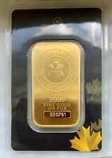 1 OZ GOLD BAR - ROYAL CANADIAN MINT (OLD STYLE, SEALED IN ASSAY CARD) #500761