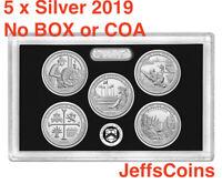 2019 S 99.9% SILVER Quarters Mint Proof Set Lowell - Frank River NO Box/COA 19aq
