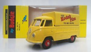 Budgie Diecast Models 204 T2 VW SINGLE CAB PICK UP 1:43 YELLOW KODAK MIB