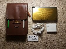 "RARE ""New 3DS XL Hyrule Gold Edition"" 246 games, Wireless Capture, 64GB (D)"