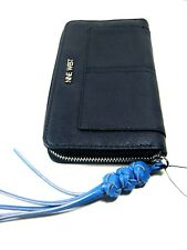 Nine West Women's Mensi SLG Zip Around Wallet FNY/CBL MM New NWT Blue