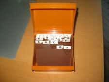 Karteikasten Esselte Cardo DIN A7 orange Vintage A-Z Register Visitenkarten 70er