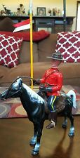 Vtg Royal Canadian MOUNTED POLICE RCMP PLASTIC HORSE Figure Toy HONG KONG 2172