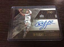 2016-17 Panini Select Chris Paul In flight On Card Auto /99 Autograph Rockets