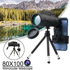HD Monocular Telescope & Smartphone Holder for Wildlife Bird Watching Hunting