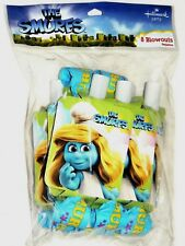 ~THE SMURFS  ~~  8- PARTY BLOWOUTS - PARTY  SUPPLIES