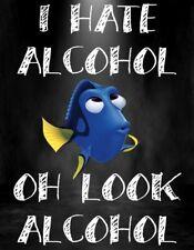 Funny Bar Sign Plaque Home Bar Pub Novelty Beer Alcohol Nemo Dory man cave