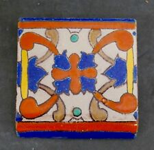 D&M Vintage Persian-Inspired Bull Nose Tile Hispano Moresque California
