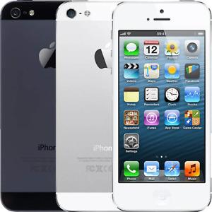 Apple iPhone 5 - 16GB 32GB 64GB - White/Black - UNLOCKED Good