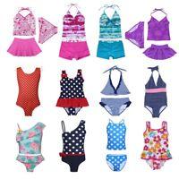 Girls Floral Print Tankini Swimsuit Swimwear Kids Swimming Costume Bathing Suit