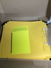 Yellow Suspension Files Tabs Inserts A4 Qty 25