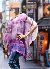 Asian Indian Beautiful  Net     Poncho / Summer Beach  Kimono Sleeve Batwing
