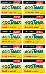 10 Rolls Kodak T-MAX 400 35mm Film TMY 135-36 B&W Black & White Negative 8/2020