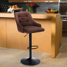 Swivel Bar Stools Adjustable Counter Height Bar Stool Pu Leather Bar Chair Brown