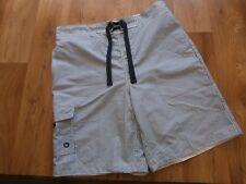 Mens George Cargo Swim Board Shorts Blue Nautical Stripe Size L 36 w