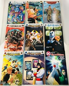 LOT OF 10 HANNA BARBERA DC CROSSOVER TPB / GN'S 2018 FUTURE QUEST JETSONS WACKY