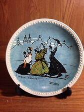 When In Rome... Newell Pottery Company Rockwell on tour Collector Plate