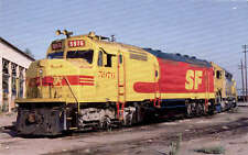 """Santa Fe F45 diesel locomotive train railroad postcard """"Kodakchrome"""" paint"""