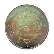 France 2013 - 2 Euro Comm - Treaty of Elysee (UNC)