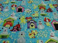 "Tela Patchwork All Over de Tela "" en the Dog House"" 50x110 cm BW Multicolor"