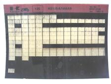 Kawasaki KE125 1980 - 1982 Parts Microfiche NOS k161