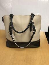 Wilson Leather Woman Bag Cream Black New Leather