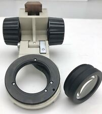 Nikon Diaphot microscope Condenser mount focus knob holder with lens