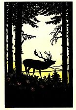 Tier-künstlerische Malereien von Hirschen auf Papier