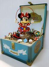 "Disney/Schmid Moving Minnie Mouse - ""Minnie's Toy Chest"" Music Box-Original Box"