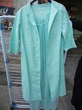 antica camicia notte seta e pizzo anni 50' completo sopra sotto raro e perfetto