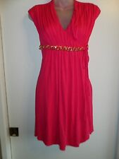 Sky Clothing Brand S Dress Gold Chain Bright Hot Pink Fuchsia Tunic Party Sexy