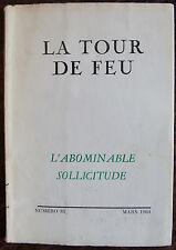 LA TOUR DE FEU, l'abominable sollicitude, n°81, 1964