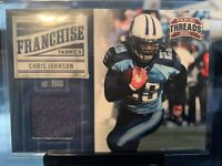 2011 PANINI THREADS ANDRE JOHNSON GAME USED JERSEY CARD HOUSTON TEXANS MINT /299