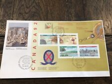 Stamps Canada 🇨🇦 jumbo Fdc 1992 sc#1407a World Philatelic Youth Exhibit, s/s