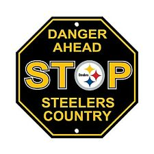 Plastic Stop Sign Pittsburgh Steelers Football-NFL