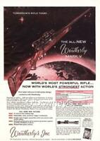 1958 Weatherby Mark V Rifle ad Colt Firearms Vintage  Cabin Art