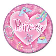 8 Princess Paper Plates Pink Princess Party Paper Party Plates Party Plates