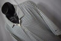 23135 Mens Nike Golf Dri Fit UV Performance Striped Golf Polo Shirt Size 2XL XXL