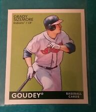 2009 GOUDEY MINI GRADY SIZEMORE #61 GREEN BACK CLEVELAND INDIANS UPPER DECK UD