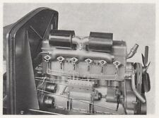 D8115 Il motore dell'autocarro FIAT 634 N. - Stampa d'epoca - 1931 vintage print