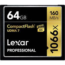 Scheda di Memoria Compact Flash 64GB CF Lexar Professional UDMA-7 1066X