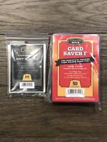 NEW 50 Count Cardboard Gold Card Saver I 1 & 100 Soft Sleeves PSA In Hand Ready