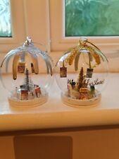 Handmade Harry Potter Miniature books Xmas Baubles-  2 colours