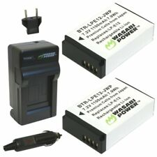Wasabi Power Battery (2-Pack) and Charger for Canon LP-E12