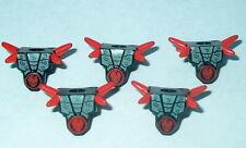 ARMOR Lego Ninjago Frakjaw Armor x5 Red Spikes/ Skull Pattern NEW