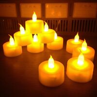 24&48 LED TEA LIGHT TEALIGHT CANDLE CANDLES FLAMELESS WEDDING BATTERY INCLUDED.