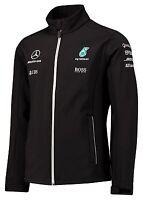 OFFICIAL F1 Mercedes AMG Petronas Team Soft Shell Jacket Coat BLACK – NEW